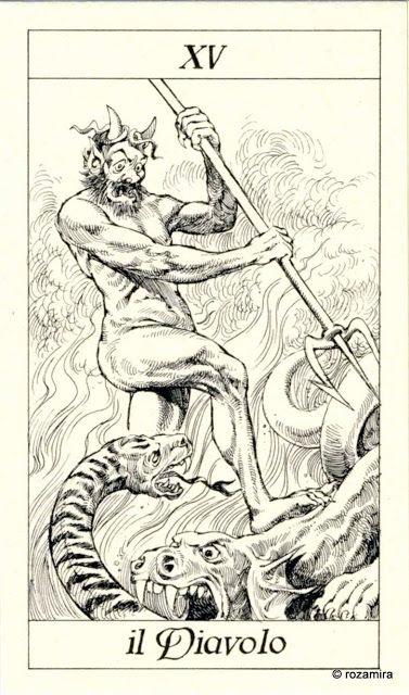 XV. The Devil - Tarot of the 3 Musketeers ( I Tarocchi del re Sole) by  Paolo Piffarerio