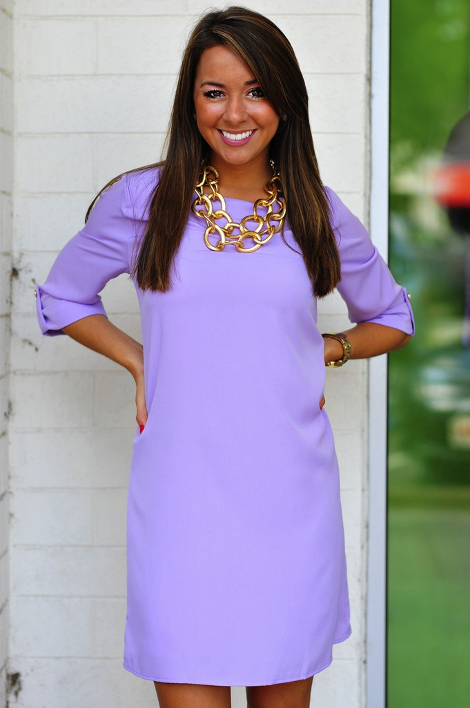 Conservative & Cute Dress: Purple