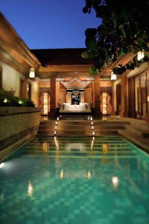 Night time dip at  Grand Hyatt Bali.