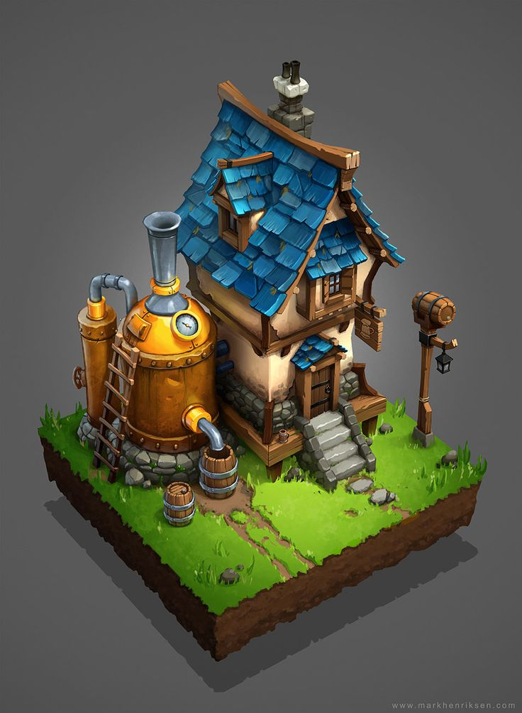 Medieval Brewery, Mark Henriksen on ArtStation at https://www.artstation.com/artwork/medieval-brewery-8cc80c7d-4e98-4725-a869-1edcefc52f4b