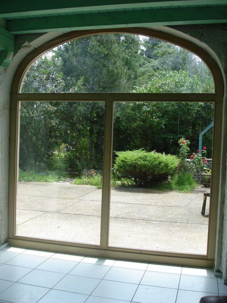 nouvelle baie vitrée double vitrage, chassis fixe