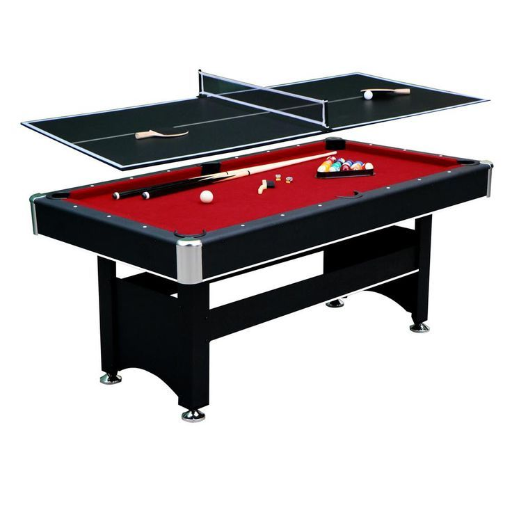 Hathaway 6 Ft Spartan Pool Table With Table Tennis Conversion Top