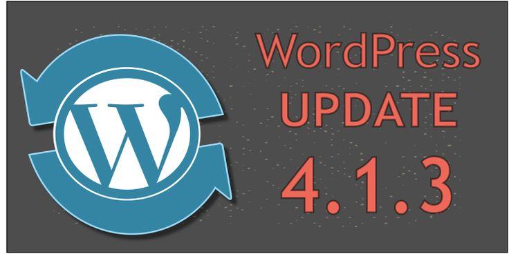 WordPress Update 4.1.3