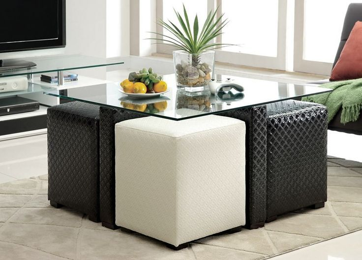 Square Coffee Table With Stools Underneath Closet Organization Closet Coffee O Coffee Table With Stools Coffee Table With Seating Ottoman Coffee Table