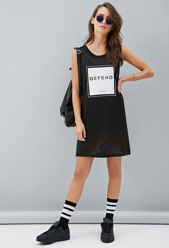 Defend Paris Graphic Jersey | Forever 21 - 2000155163