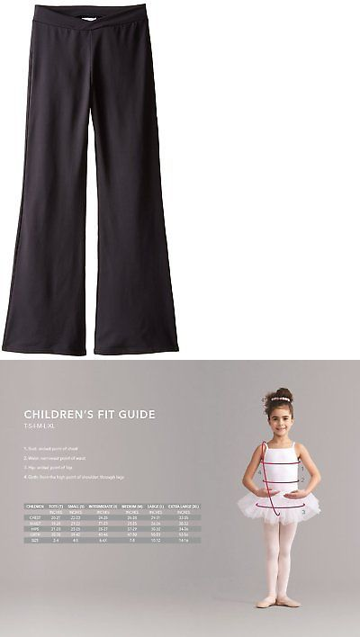 Pants and Shorts 163138: Capezio Little Girls Tactel Jazz Pant, Black, Tall -> BUY IT NOW ONLY: $47.24 on eBay!
