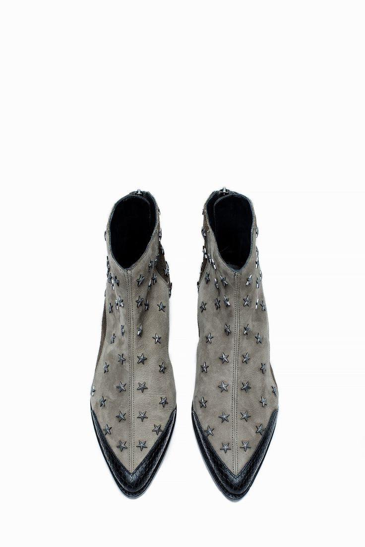 Bottines Mods Ao Stars, carbone, Zadig & Voltaire