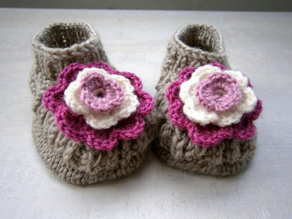 Baby Booties    PLEASE STATE SIZE by PrettyBagsByMia on Etsy, $15.90