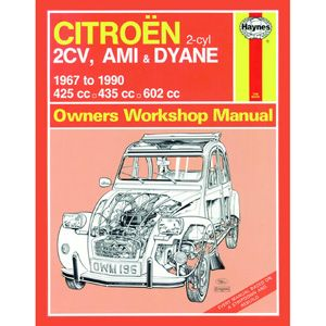Citroen 2CV, Ami and Dyane (1967-1990) up to H Haynes Manual • citroen 2CV books