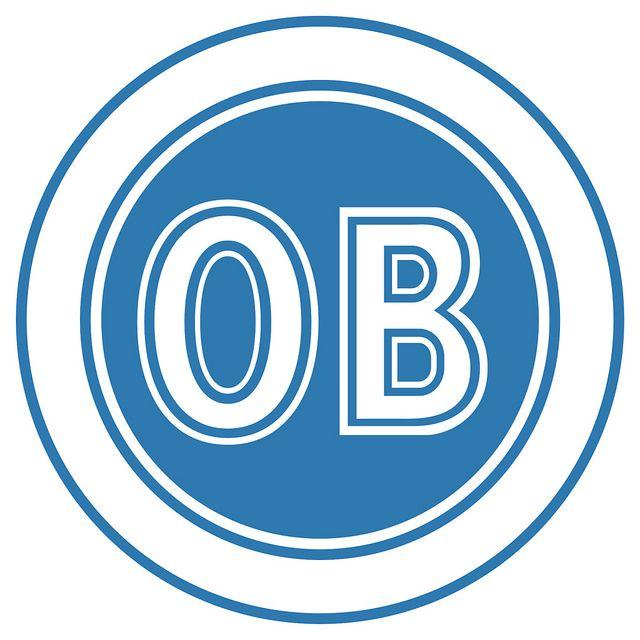 Odense Boldklub (Odense BK / OB) | Country: Danmark / Denmark. País: Dinamarca | Founded/Fundado: 1887/07/12 | Badge/Crest/Logo/Escudo.