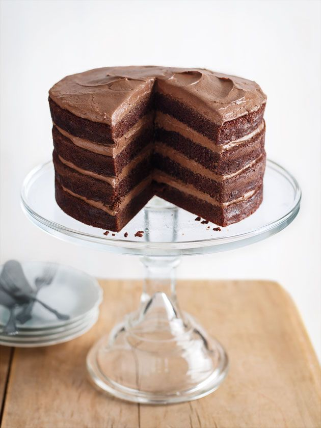 chocolate buttermilk layer cake from donna hay magazine