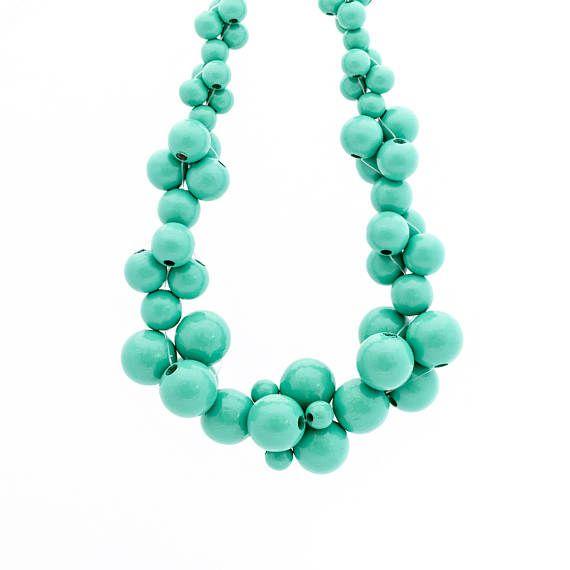 MoleCOOLs Mint wooden necklace