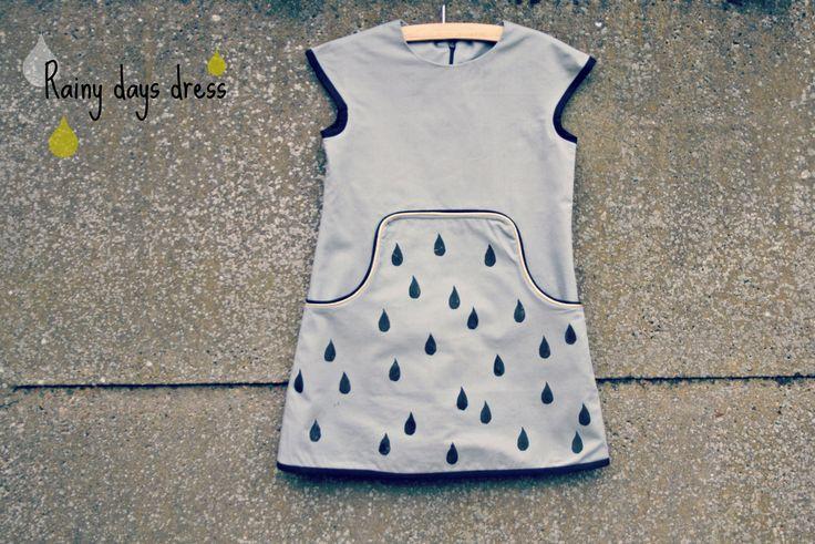 DIY - sew - Louisa dress nr 3 - rainy days version without sleeves