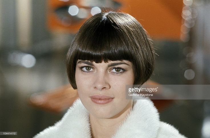 November 6, 1967 portrait of the singer Mireille MATHIEU while she was recording an end-of-year televised program at the Buttes-Chaumont studio in Paris
