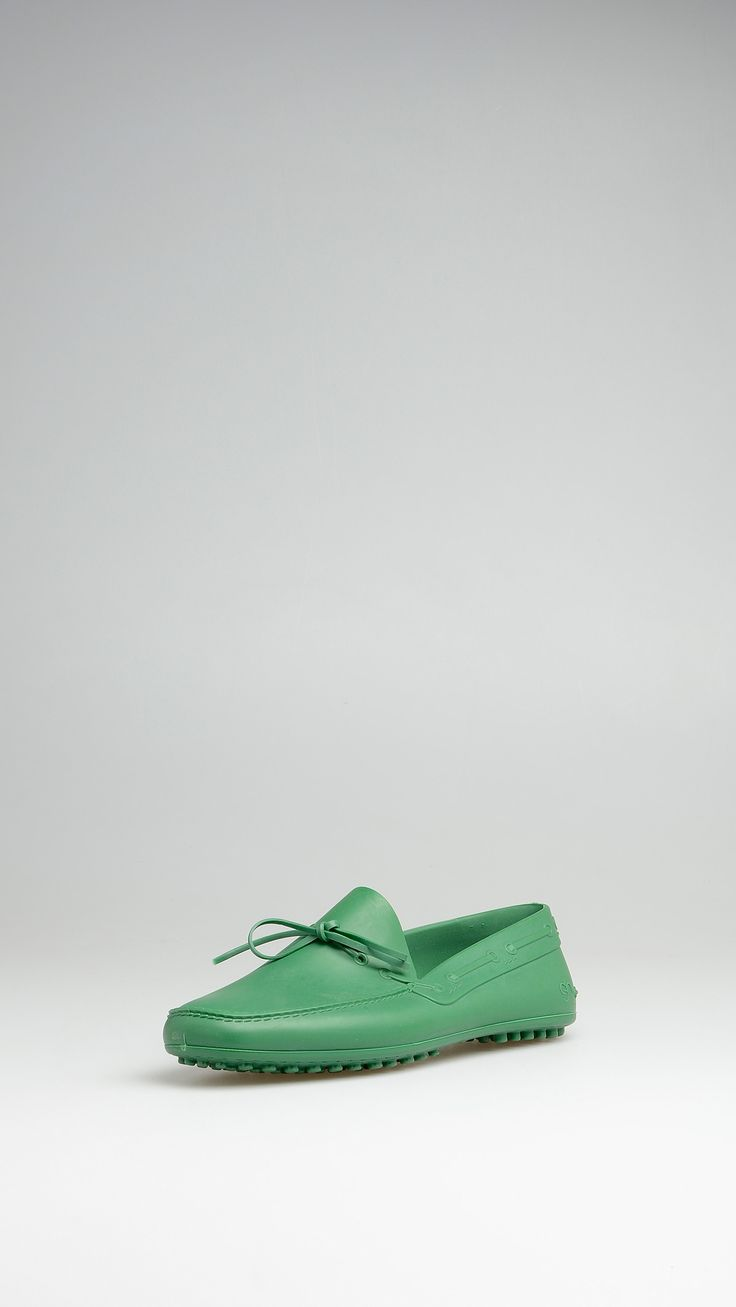 Shudy Green TPU rubber loafers, leather insole, rubber studs. only £30!