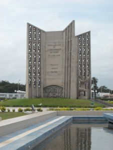 50th anniversary monument at the Place d'Independance -  LOME , TOGO , WEST AFRICA