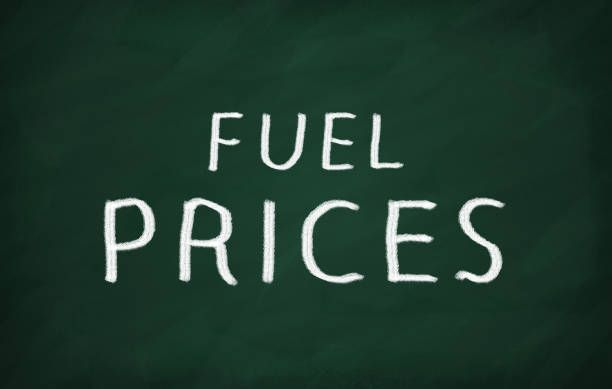 on the blackboard with chalk write fuel prices