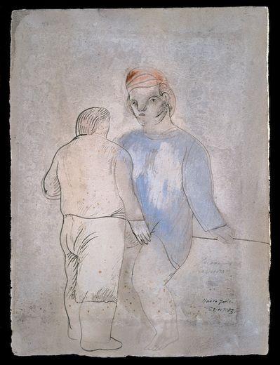 José Luis Cuevas – La Giganta, 29Oct1983 N. Y., Plumilla, aguada, tinta china y acuarela sobre papel | Museo José Luís Cuevas