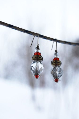Mražené ovocné špízky #nausnice #handmade #zima #mraz