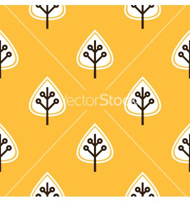 Thanksgiving yellow seamless pattern with leaves vector 1633585 - by lordalea on VectorStock®
