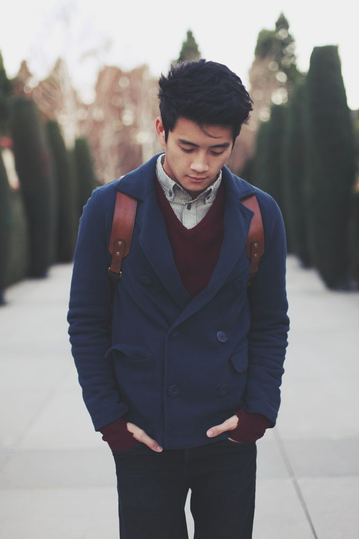 Navy and burgundy, great combination even for men.