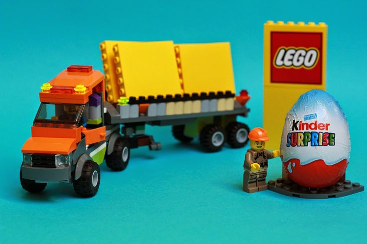 Lego truck and kinder surprise