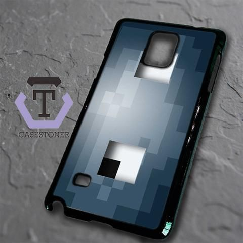 Minecraft Grey Squid Head Samsung Galaxy Note Edge Black Case