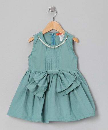 Take a look at this Mint Bow Pearl Tunic - Toddler & Girls by Funkyberry on #zulily today!