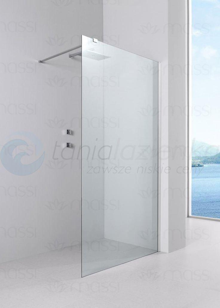 MASSI Ścianka  prysznicowa WALK IN FIX 80 cm