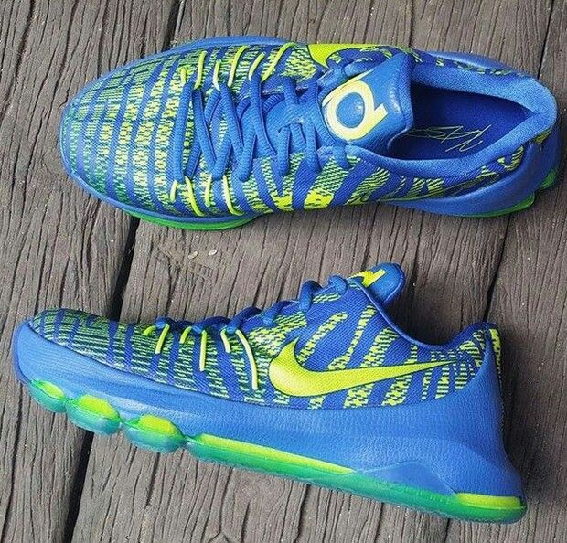 Online sales Mens Nike KD 8  Fluorescent green Basketball shoes
