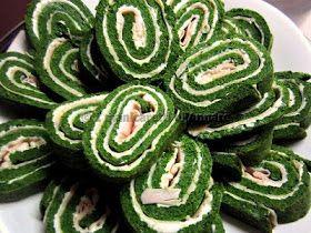 Rotolo di frittata agli spinaci farcita