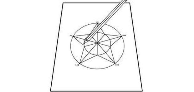 Como desenhar uma estrela de cinco pontas