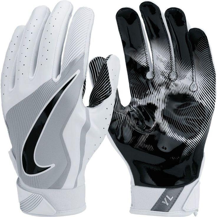 Nike Youth Vapor Jet 4.0 Receiver Gloves, White