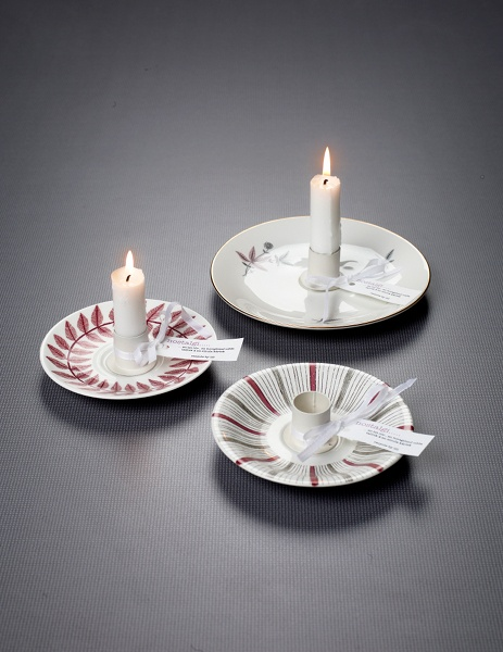 Candle stick made out of vintage china - great idea