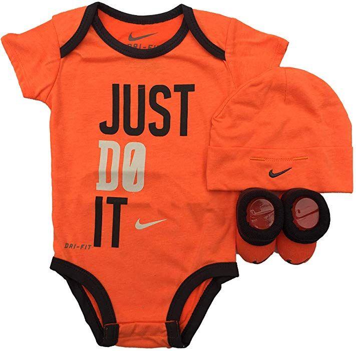 e2343be16bd78 Amazon.com: Nike Infant Babys 3-Piece Bodysuit, Hat & Booties Set (0 ...