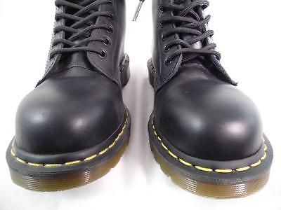 DR MARTENS 1919 BLACK SMOOTH LEATHER 10 EYE STEEL TOE CLASSIC BOOTS NOS UK 5