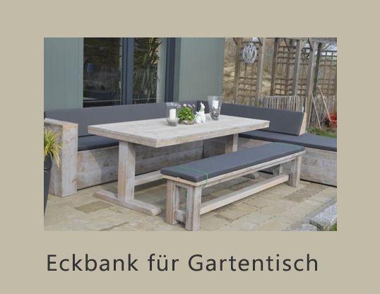 Bauholz Eckbank für Gartentisch
