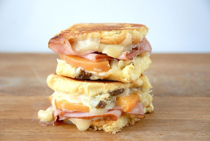 Pickled Peach Grilled Cheese with Virginia Ham