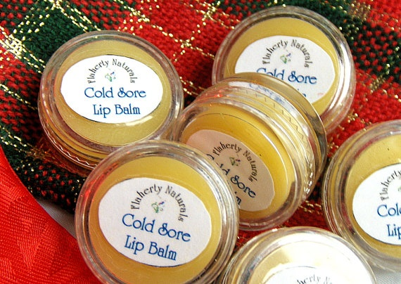 Cold Sore Lip Balm 5ml Jar is a great herbal Mother Day Gift. Blended with Certified Organic Butters, and Essential Oils proven to speed the healing of cold sores and reduce their discomfort. Its soft and creamy on the lips, with a slight hint of apples when first applied. Handmade in small batches of 8-9 clear 5ml PET jars, its appropriate for use by the entire family, and slowly absorbs into the lips attacking viral cells for 2-3 hours. $3.95 at www.FlahertyNaturals.Etsy.com