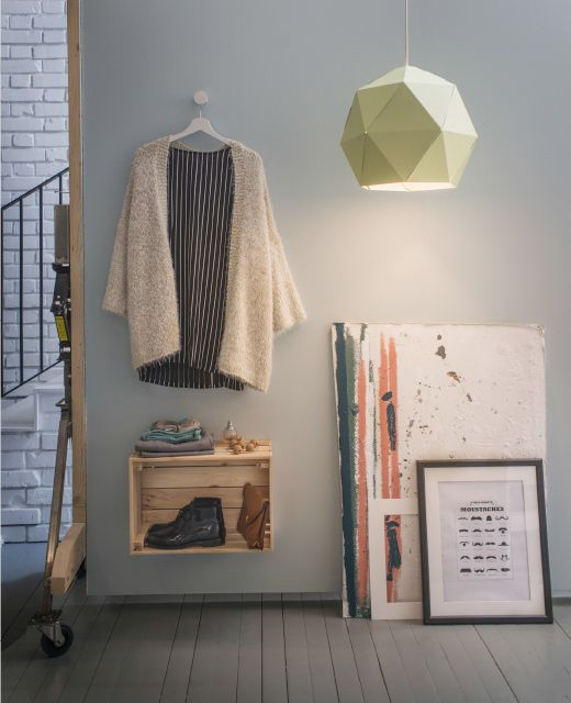 To save some morning minutes, choose your outfit the night before. No more fumbling in the dark or changing your mind ten times. Give other sleepyheads peace with a dedicated clothes spot in the hallway or bathroom.