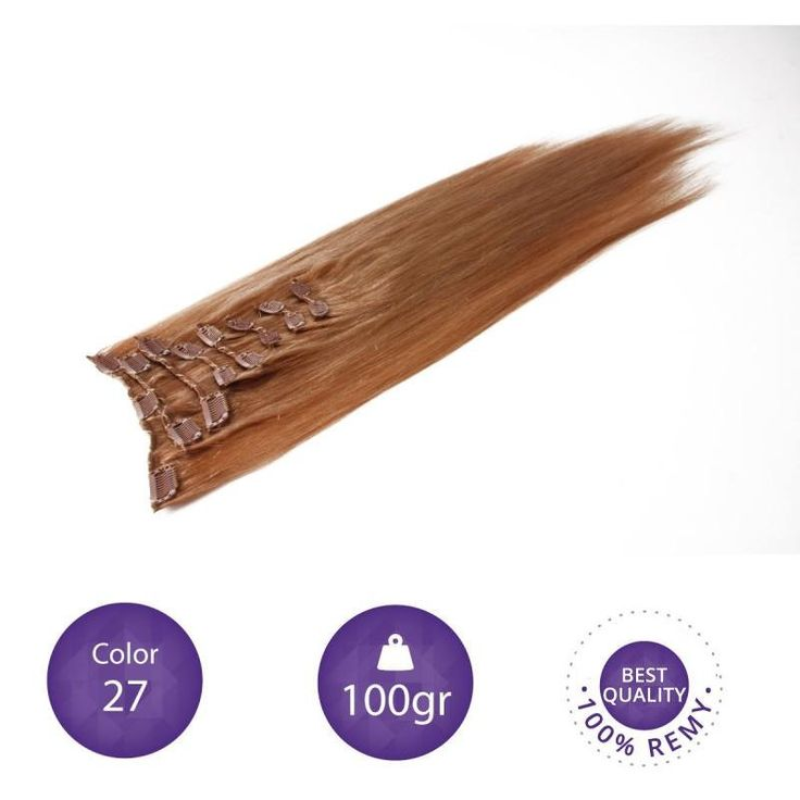 """Clip in Extensions 100% Human Remy natural hair. 55 cm long. 22"""" color 27 by peloxtensiones on Etsy"""