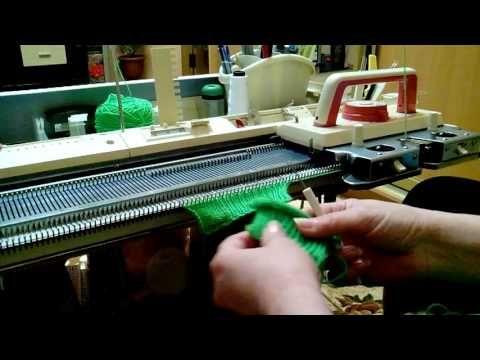 Вывязывание ластика/резинки/самый простой и оригинальный способ для однофонтурных машин. - YouTube