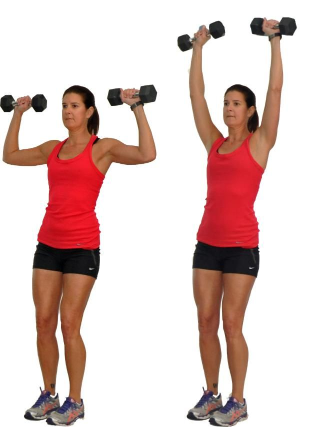 17 Best images about TOTAL BODY WORKOUT!!! on Pinterest ... Dumbbell Overhead Press