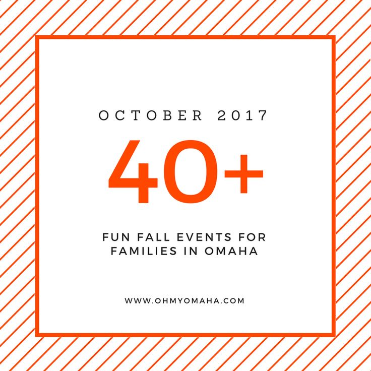 Here's a list of tons of kid-friendly October events in the Omaha area, including live performances, exhibit openings, and special Halloween activities.