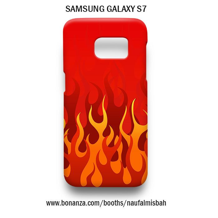 Fire Flame Print Pattern Samsung Galaxy S7 Case Cover Wrap Around - Cases, Covers & Skins