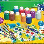 Crayola 54-9039-e-000 Kit de Loisir créatif mallette de peinture refresh: 10 bouteilles de Peinture lavable, 1 rouleau à motif, 5 pinceaux,…