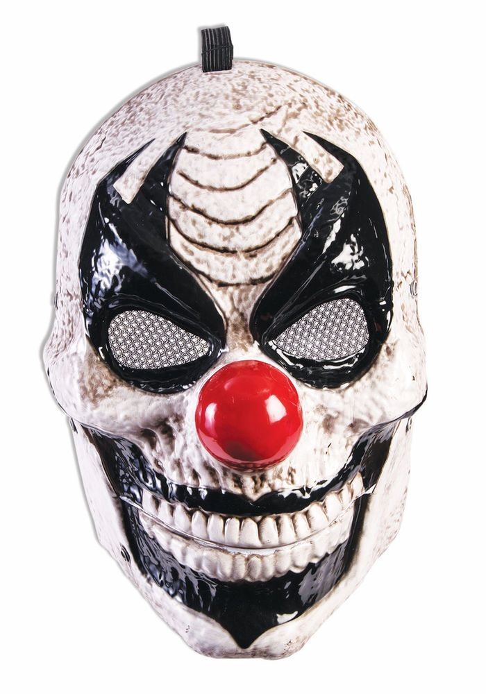 Details about Moving Jaw Clown Plastic Adult Front Face Mask
