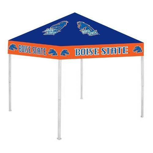 Boise State Broncos Ncca Ultimate Tailgate Canopy (9X9) by Rivalry Distributing. $208.99. Usually ships within 3-5 business days.. Stay cool and dry under the Ultimate Tailgate Canopy. Durable and water resistant 9 x 9 canopy. 12 wide valance with larger logos; 6 clearance from valance to ground. Heavy duty steel frame and 180g/m2 fabric. Easy to set up and take down! Three - Height adjustable.. Save 48% Off!