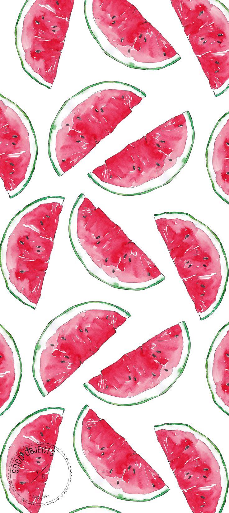 Good objects - Watermelon watercolor illustration pattern