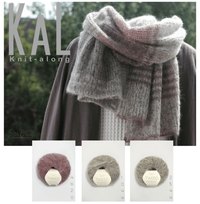 StrickFisch KAL / Knitalong Nr.1. Stricken wir gemeinsam einen kuschelweichen Tweedschal. Einfach zu stricken und absolut anfängertauglich.